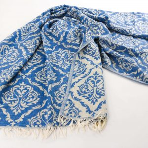 Anatolian_fabric_turkish_cotton_towel_Blue_Diamond