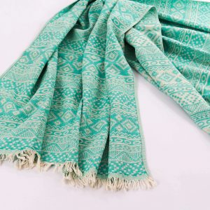 Anatolian_fabric_turkish_cotton_towel_Minty_Waves