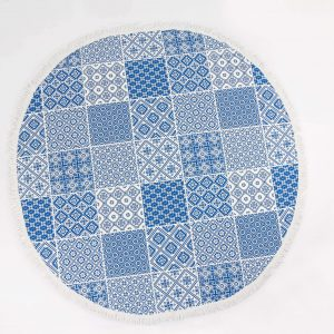 Anatolian_fabric_round_towel_Blue_Tiles-min
